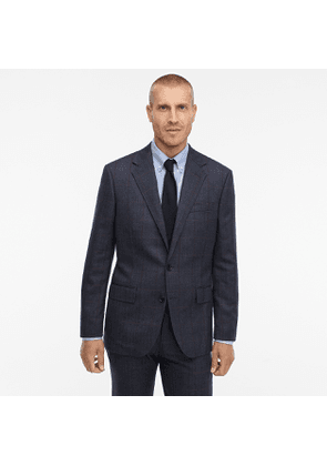 Ludlow Classic-fit unstructured suit jacket in windowpane English herringbone wool