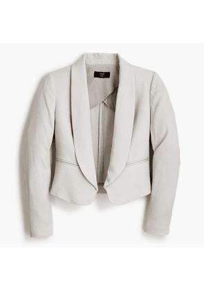 Tall shaw-collar cropped blazer in TENCEL™ dobby