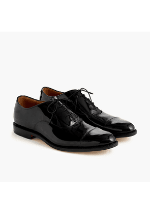 Cap-toe oxfords in patent leather