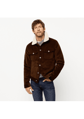 Corduroy jacket with sherpa collar and eco-friendly PrimaLoft®