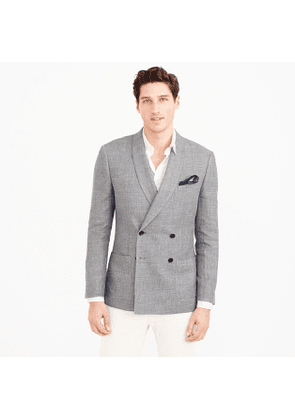 Ludlow Slim-fit dinner jacket in Italian linen-cotton