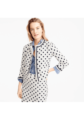 Jacket in polka-dot textured tweed