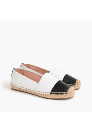 Espadrille shoes in canvas with toe cap