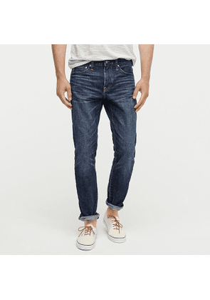 484 Slim-fit rigid jean in dark shadow wash Japanese denim