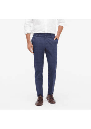 Ludlow Slim-fit pant in heather windowpane stretch cotton twill