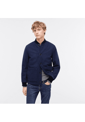 Bomber jacket in wool-blend with eco-friendly PrimaLoft®