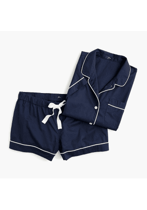 Short-sleeve pajama set in end-on-end cotton