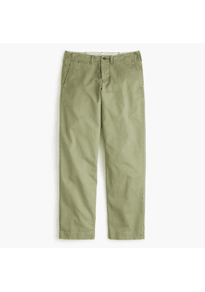 Wallace & Barnes military officer's chino in olive cotton twill