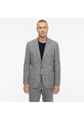 Ludlow Classic-fit unstructured suit jacket in English herringbone wool-cotton
