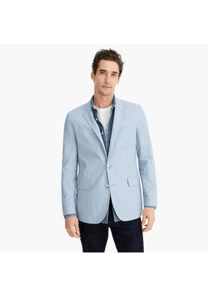 Ludlow Slim-fit unstructured blazer in cotton-linen