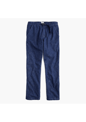 Belted pant in Japanese neppy denim