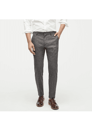 Ludlow Essential Slim-fit pant in check stretch four-season wool