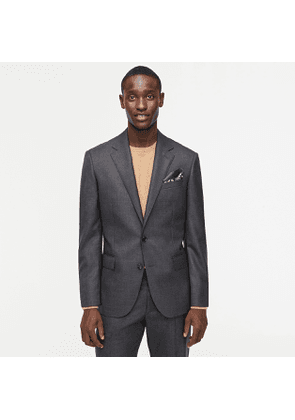 Ludlow Classic-fit suit jacket with double vent in charcoal American wool