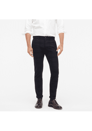 484 Slim-fit pant in plaid stretch brushed twill