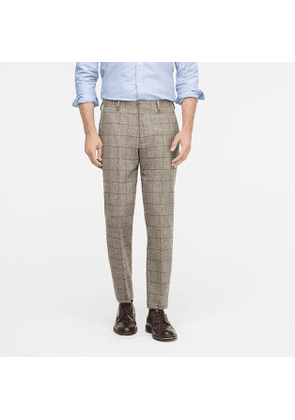 Ludlow Classic-fit suit pant in Scottish windowpane wool