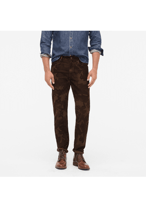 484 Slim-fit pant in camouflage corduroy
