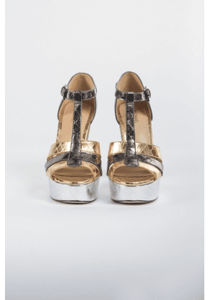 MICHAEL Michael Kors Heeled Sandals in Silver