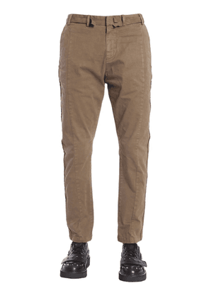 TROUSERS WITH DECORATIVE STRIPS