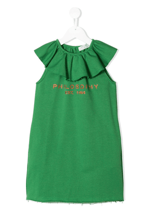 Philosophy Di Lorenzo Serafini Kids sleeveless frill neck dress -
