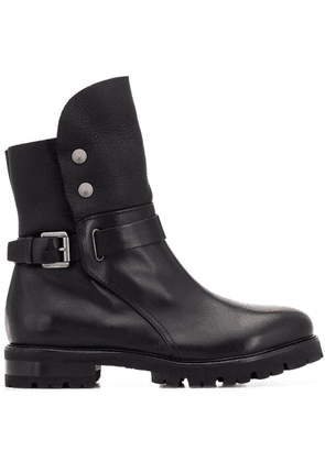 AGL side buckle boots - Black