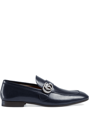Gucci Leather loafer with GG - Blue