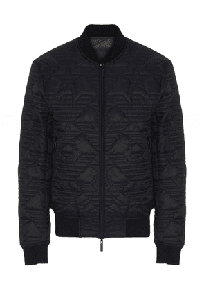 Armani Reversible Quilted Bomber Jacket Colour: Brown
