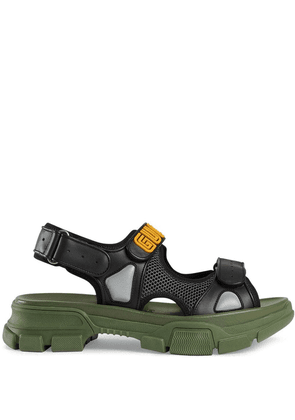 Gucci Leather and mesh sandals - Black