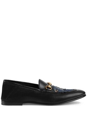 Gucci Leather loafer with wolf - Black