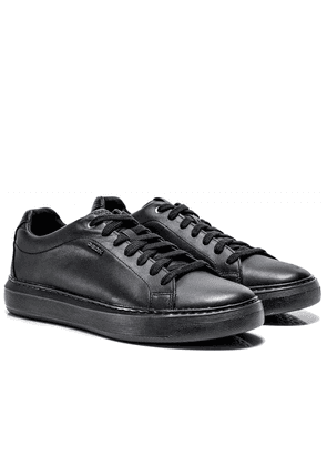 Geox Leather Deiven Trainers Colour: Black