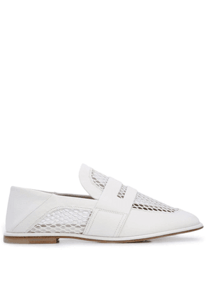 AGL mesh panel loafers - White