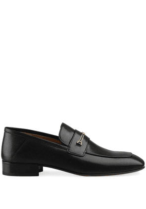 Gucci Leather loafer with Horsebit and Double G - Black