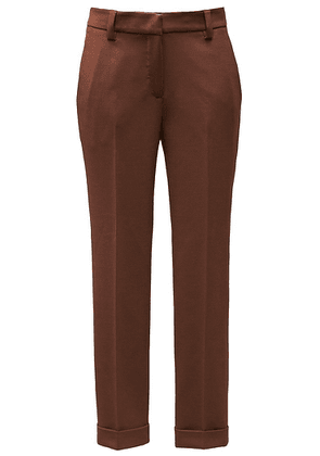 Tobacco brown trousers