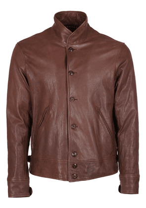 Distressed brown leather jacket Fort02
