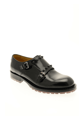 Valentino Monk Strap Shoes in Black