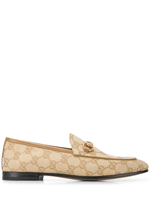Gucci Jordaan double G loafers - Neutrals