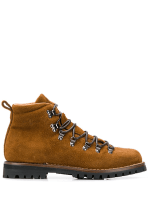 Car Shoe lace-up ankle boots - Brown