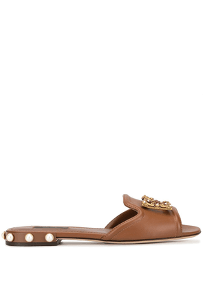 Dolce & Gabbana slip-on sandals - Brown