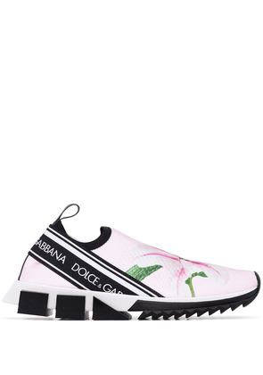 Dolce & Gabbana Sorrento lily print sneakers - PINK