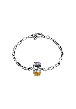 Gucci Bracelet with Square G in silver