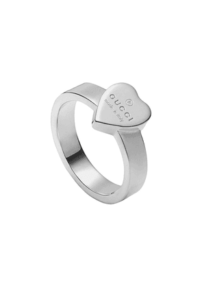 Gucci Heart ring with Gucci trademark - SILVER