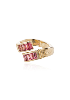 Retrouvaí 14kt yellow gold and pink sapphire ring