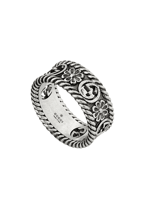 Gucci GG motif cut-out ring - SILVER