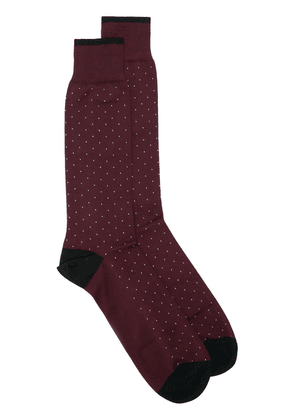 Dolce & Gabbana dotted socks - Red