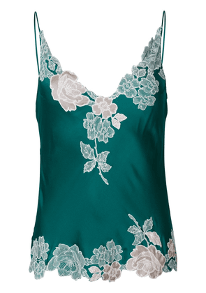 Carine Gilson v-neck lace camisole top - Green