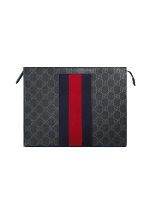 Gucci GG Supreme Web cosmetic case - Black