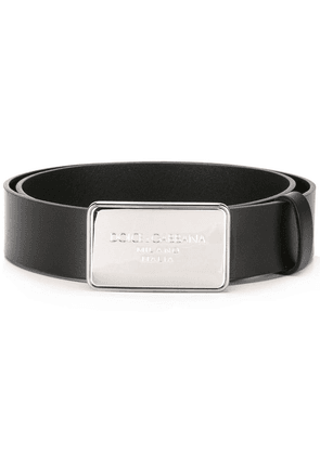 Dolce & Gabbana logo plaque belt - Black