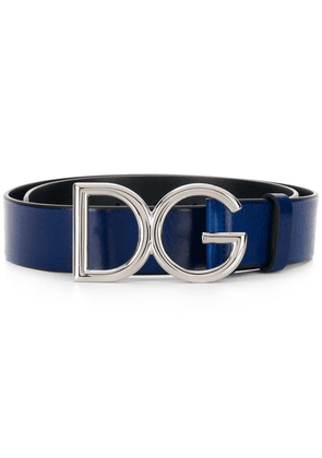 Dolce & Gabbana logo buckle belt - Blue