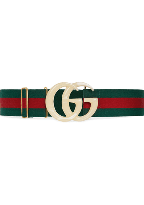 Gucci Elastic Web belt with Double G buckle - Green