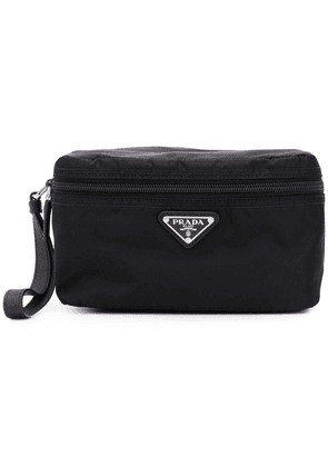 Prada technical fabric wash bag - Black