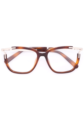 Chloé Eyewear square frame glasses - Brown